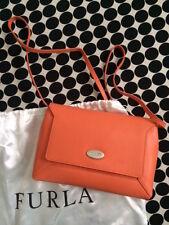 Furla Crossbody Leather Mini Schoulder Bag / Purse With Silver Logo.