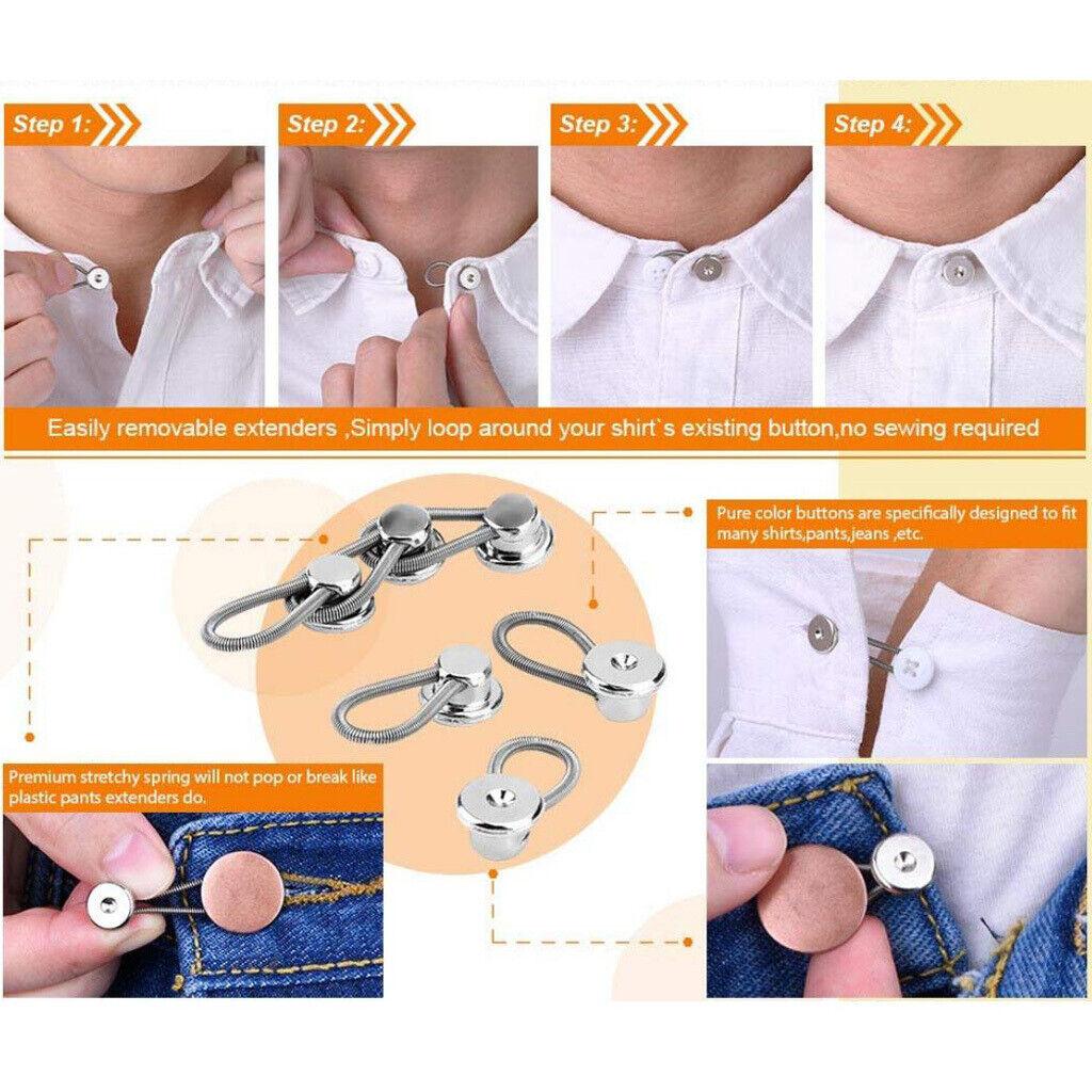 10 piece wonder / extension buttons for collar / cuff / waste,