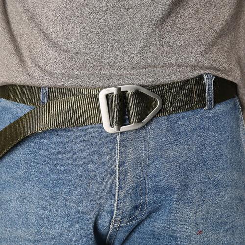 Metal Buckle Men/'s Webbed Belt Outdoor Military Tactical Canvas Belt