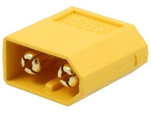 2x XT60UPB-M Buchse zur DC-Stromversorgung XT60 männlich PIN 2 auf PCB AMASS