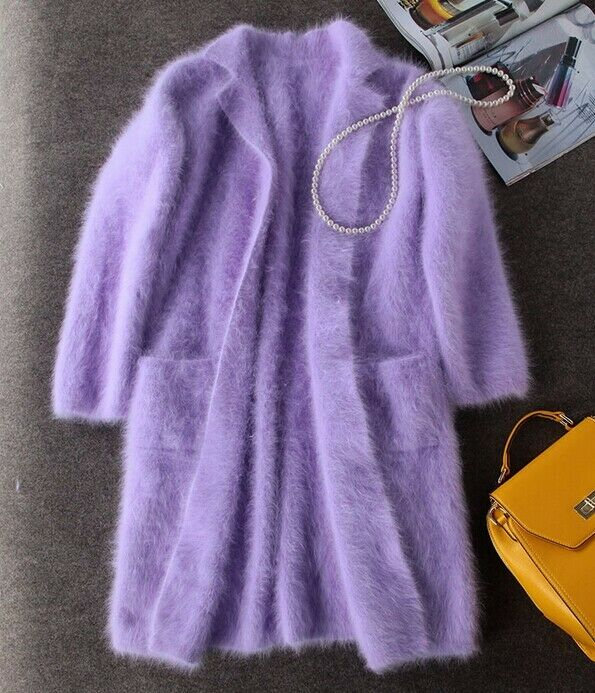 Long Mink Cashmere Coat Women Fashion Real Mink Cashmere Long  free shipping S66