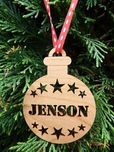 Ebay Christmas Baubles.Details About Personalised Christmas Tree Decorations Custom Christmas Baubles