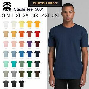 AS-Colour-T-SHIRT-Blank-Plain-Print-Staple-Tee-S-5XL-Small-Big-Men-039-s-Cotton