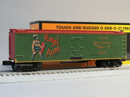 MTH RAIL KING ROYAL ARMS 40' WOODSIDED REEFER CAR O GAUGE train freight 30-78194