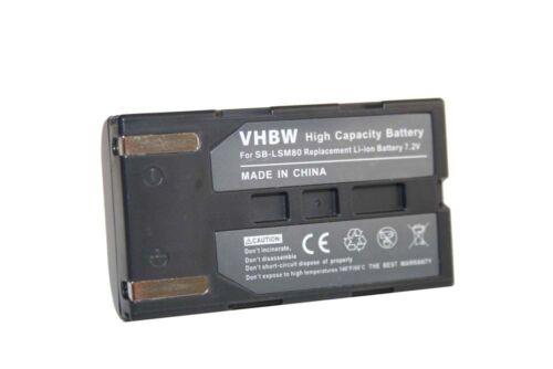 Videocámara acu Batería Acu para Samsung vp-d361