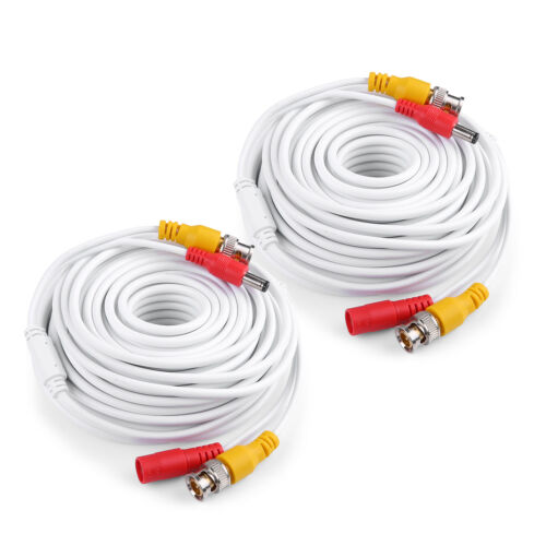 25//50//60//100//150ft Security Camera Video DC Power Cable BNC DVR Extension Cord