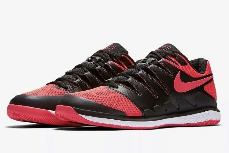 Nike Air Zoom Vapor X HC Men Tennis Shoes SZ 12 Black Solar Red AA8030 006 140