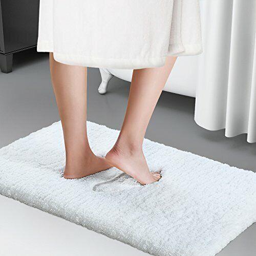 Bathroom Shower Bath Microfiber Soft Non Slip Mat Rubber Back Rug Home Luxury