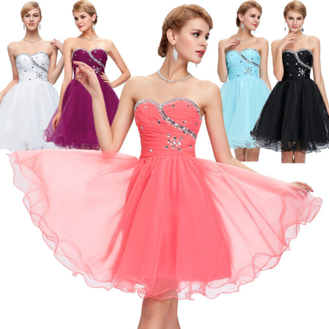Formal Short Mini Homecoming Cocktail Party Evening Dresses Ball Gown Bridesmaid