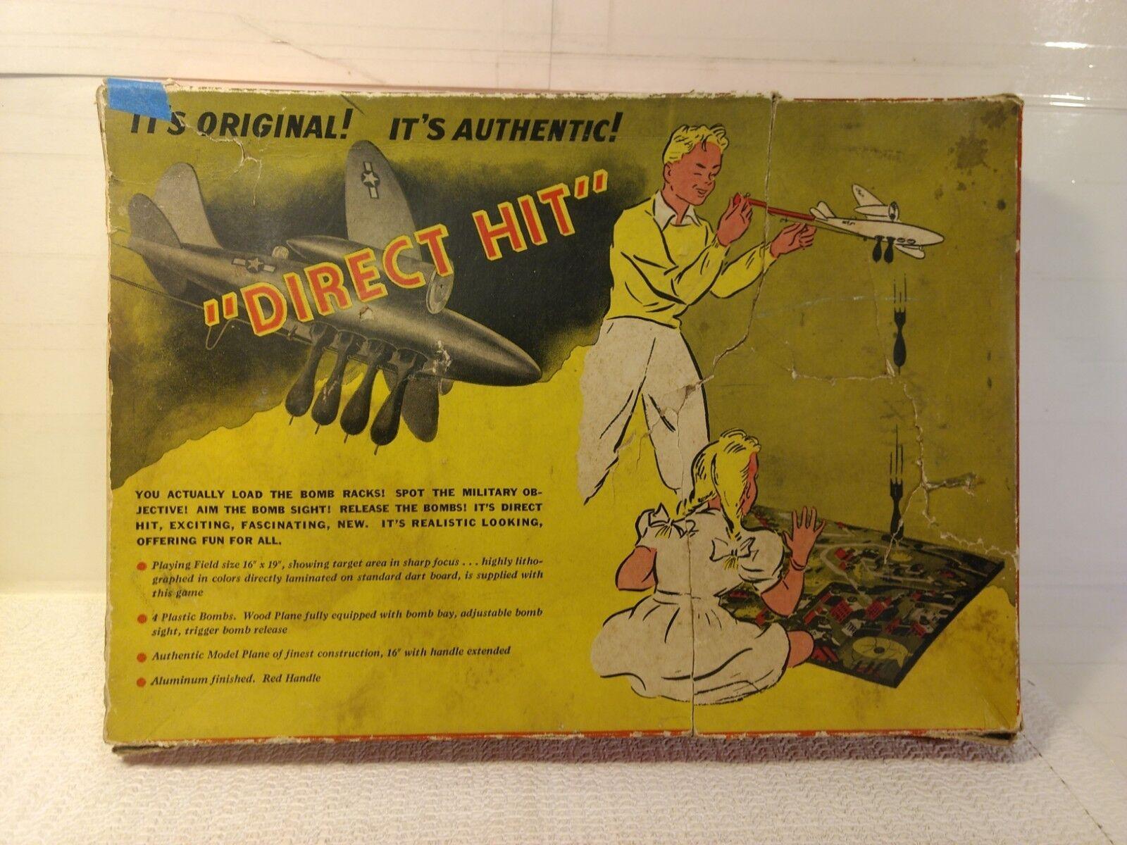 Vintage Northwestern Products Company Direkt Hit Spielzeug Bomber & Ziel Spiel