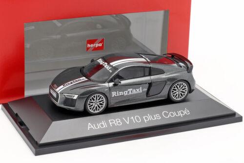Audi R8 V10 Plus Ring Taxi Nürburgring dunkelgrau metallic 1:43 Herpa