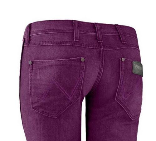 WRANGLER Jeans Amanda w29 l32 NUOVO Donna Denim Hüfthose BOOTCUT STRETCH MIRTILLO