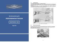 Bedienungsanleitung Betriebsanleitung Wartburg 1000 Typ 312 IFA DDR