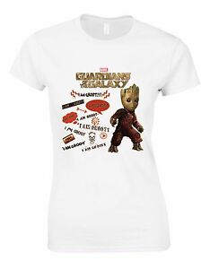 124df994c Guardians of the Galaxy2 Mixtape I Am Groot Marvel Woman Cut Tshirt ...