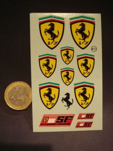 DECALS GRANDS ECUSSONS FERRARI T411