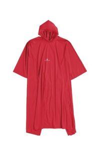 Ferrino-Poncho-130-cm-Rouge-Protection-Anti-pluie-Capuche-Boutons-Randonnee