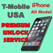 PREMIUM UNLOCK SERVICE T-MOBILE USA iPhone 4s 5 5c 5s 6 6+ 6s 6s+ SE All IMEI