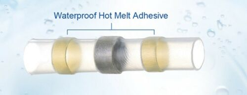 25ea AWG 12-10 Waterproof Solder Seal Heat Shrink butt Connectors