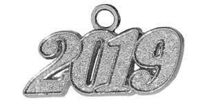 e6fdfd711d8 Details about Graduation Tassel Charm 2019 - Silver