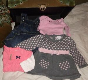 Infant Lot Carter S Pink Shirt Old Navy Dress Piper Posie Gray Dress
