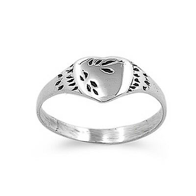 Sterling Silver Baby Ring Simple Heart Solid 925 New 4mm Sizes 1-5
