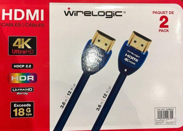 WireLogic 12 Feet 4k Sapphire HDMI Cable | eBay