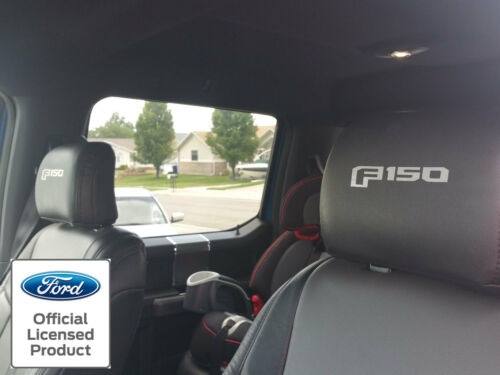 NEW 2015-2016 FORD F-150 HEADREST DECALS SEAT VINYL STICKERS LEATHER SEATS