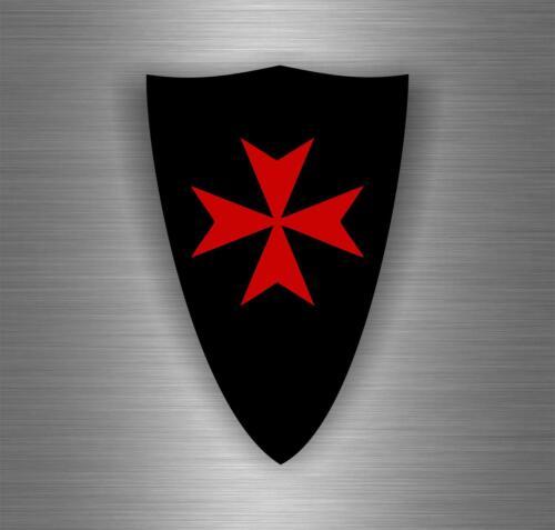 Autocollant sticker ordre de malte templier drapeau croisades templar crusader B