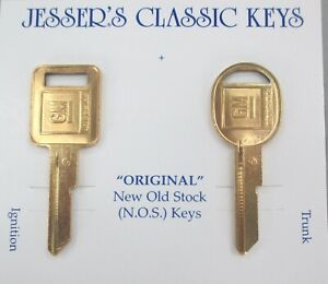 Details about GM B42-C B43-D NOS Yellow Gold Key Set Cadillac Chevy  Oldsmobile Pontiac Buick