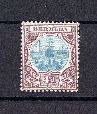 2019 Nieuwste Ontwerp Bermuda Kgv 1906 4d Grey/brown Sg42 Mvlh X6708 Goederen Van Elke Beschrijving Zijn Beschikbaar