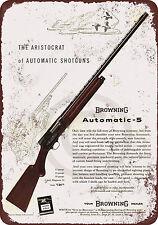 1958 Browning Automatic-5 Shotgun reproduction metal tin sign 8 x 12