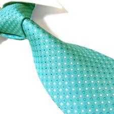 "Extra Long Polyester Woven Tie,Microfibre Turquoise Men's XL Necktie PL357 63"""