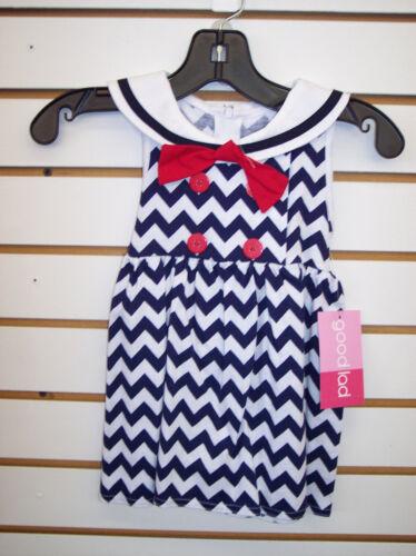 Infant Toddler /& Girls Good Lad 2pc Sailor Sets Size 12 Months 6X
