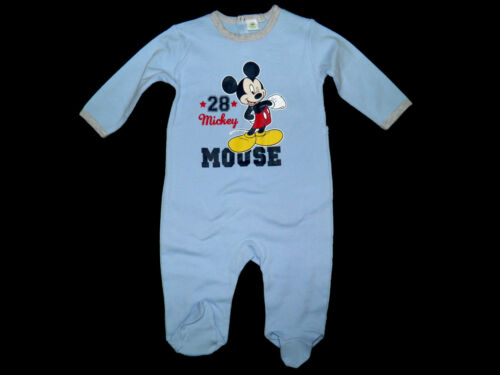 Schlafanzug Strampler Overall Disney Mickey 56 62 68 74 80 86 92 NEU