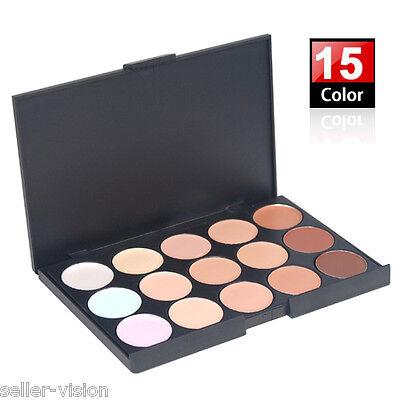 15 Colour Sheer Concealer Camouflage Palette Makeup Eyeshadow Bronzer Kit Set