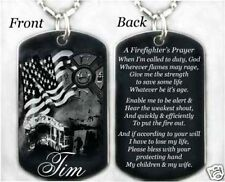 FIREFIGHTERS PRAYER - Dog tag Necklace/Key chain + FREE ENGRAVING
