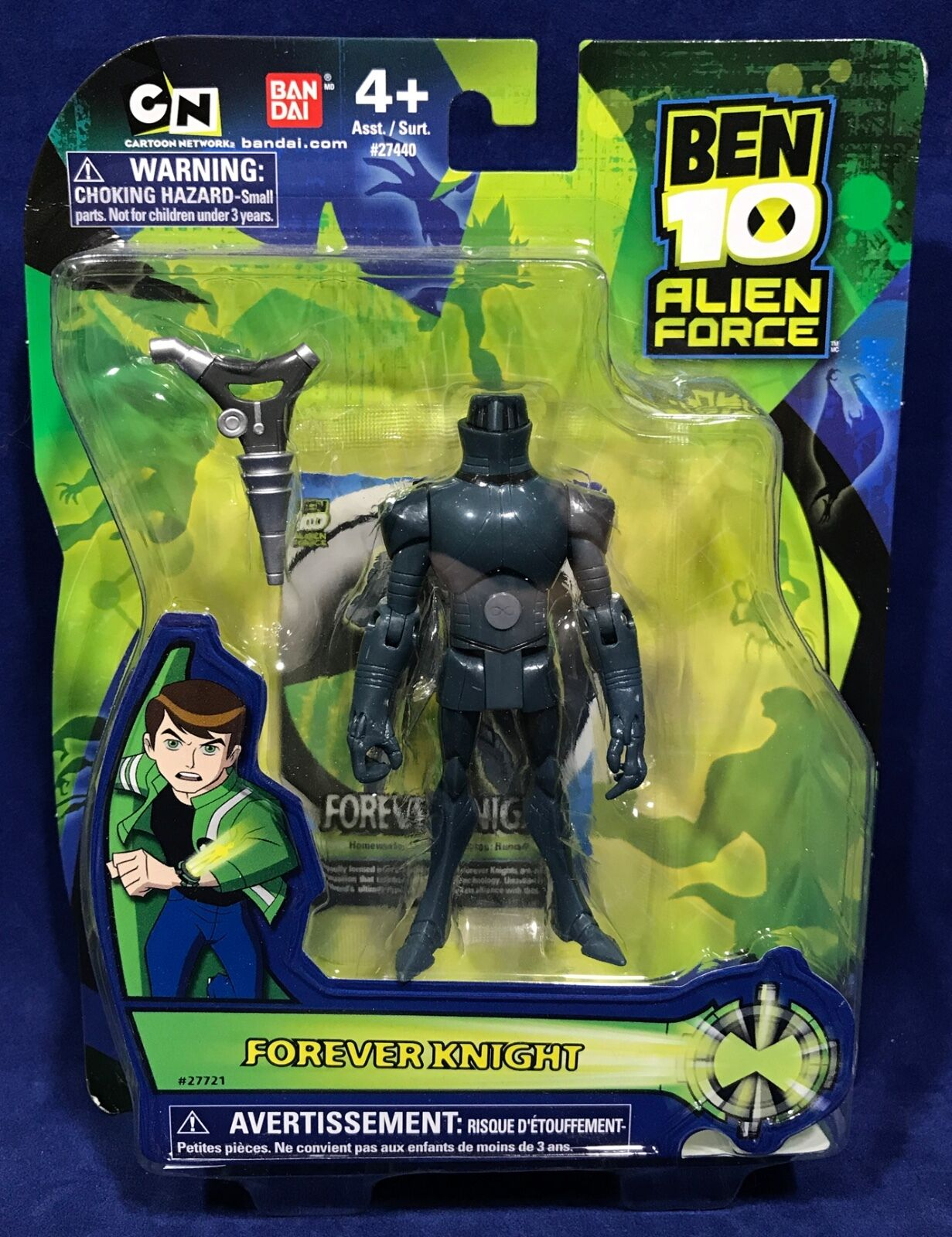 New FOREVER KNIGHT - 4  Ben 10 ALIEN FORCE Figure Collection BANDAI