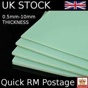 "3 feuilles de 1 mm en fibre de verre plaque 12/"" X 8/"" G10 époxy FR4 Neuf. UK stock"