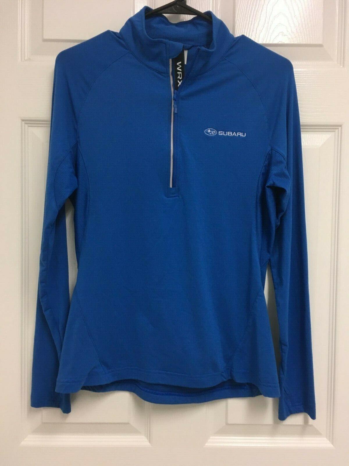 SUBARU WRX Women  bluee Long Sleeve 1 2 Zip Running Workout Shirt M Level Wear  lowest prices