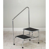 Bariatric 2-step Step Stool With Handrail 1 Ea