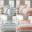 Madison-Park-Dawn-Queen-Size-Bed-Comforter-Set-Bed-In-A-Bag-Aqua-Floral-Shab miniature 8