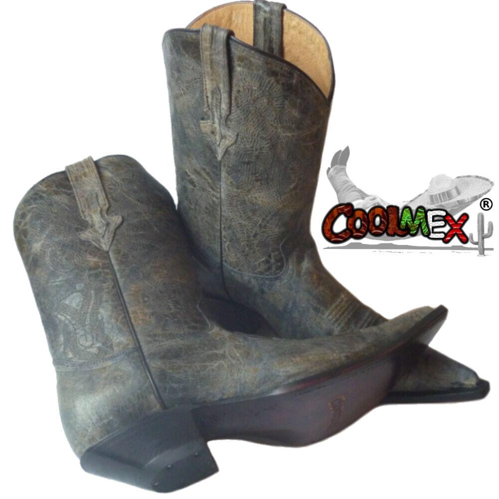 Cowboy Stivali Pelle Stivali Western Uomo Pelle Stivali Bovina attenzione SVENDITA!!! af9f5b