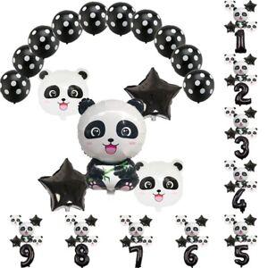 15pc-Black-Latex-Balloon-Set-Panda-Foil-Balloon-Kids-Birthday-Party-Decoration