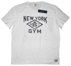 RARE-NEW-RALPH-LAUREN-POLO-RL-NY-NEW-YORK-GYM-WHITE-BLACK-T-SHIRT-XL