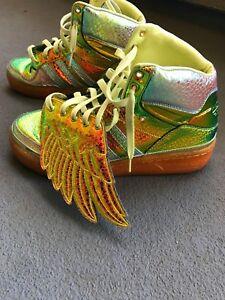 fedb8b854102 Image is loading Adidas-X-Jeremy-Scott-Foil-iridescent-Wing-sneakers-