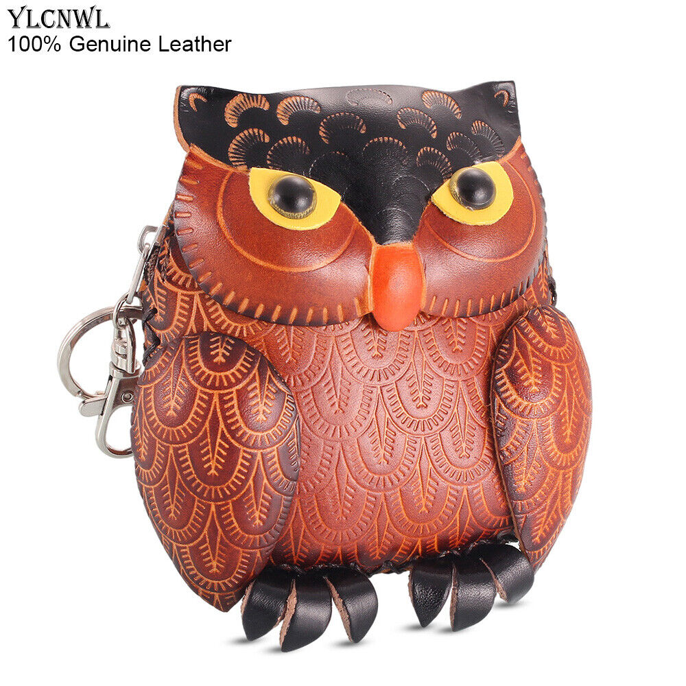 Mini Coin Purses Owl Bags For Women Girls Kawaii Wallet Small Pouch Leather Cute