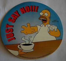 Simpsons Homer just say no sticker  Licensed coffee or Beer