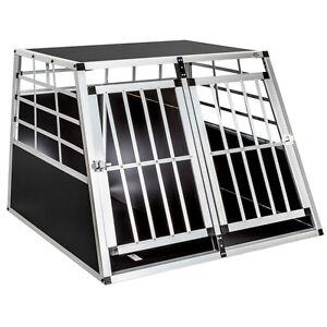 Cage-box-caisse-de-transport-chien-mobile-aluminium-XXL-double-separation