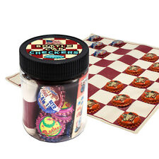 Bottle Cap Checkers with Play Mat - Great for Travel! by Channel Craft