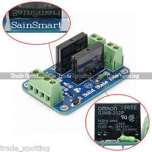 image is loading sainsmart-2-channel-5v-solid-state-relay-opto-